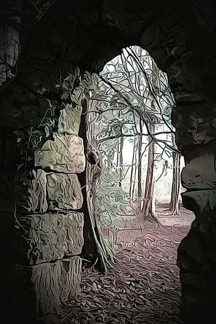 A picture of mystic gate in to the Bosqe encantado
