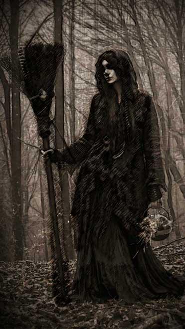 An image of La Bruja negra in El Bosque encantado